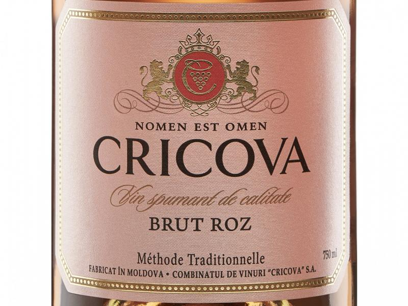 Sparkling Wine Cricova, Brut Rosé Méthode Traditionnelle